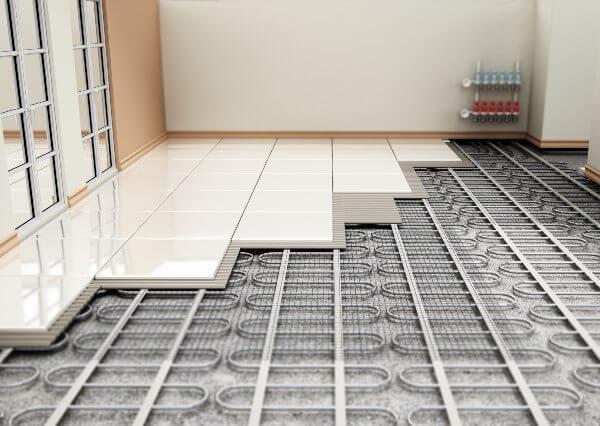 pavimento con riscaldamento e raffreddamento casa elimina batteri e acari ambiente più sano