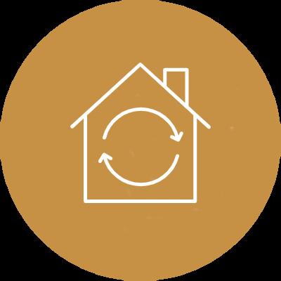 tetto ventilato favorisce il ricambio dell'aria all'interno della casa
